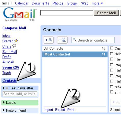 format csv import contact gmail comment importer les contacts de gmail dans sendblaster