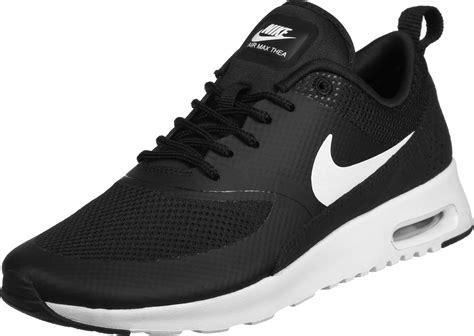 nike air max thea  shoes black white