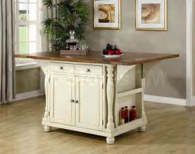kitchen island tables kitchen island table in two tone coaster co dining