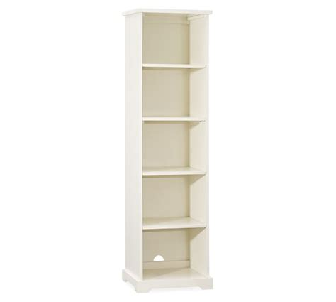 narrow bookcase pottery barn