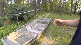 how to build a boat duck blind how to build the diy rock solid duck boat blind kit set