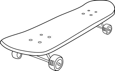 Skateboard Coloring Page Free Clip Art Skateboard Coloring Pages