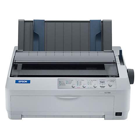 Fast Print Printer Dotmatrix Original Epson Lq300 epson lq590 dot matrix printer by office depot officemax