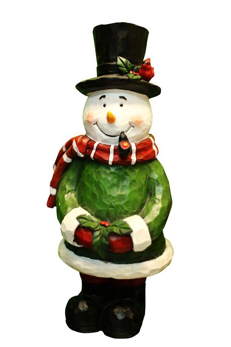 alpine corporation 12 quot snowman garden statue