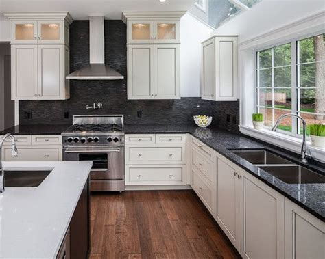 white kitchen cabinets with dark countertops 25 best ideas about black granite countertops on