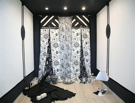 vorhänge mit querbehang wohnzimmer holz