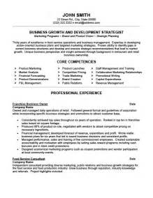 Company Resume Templates by Business Owner Resume Sle Experience Resumes
