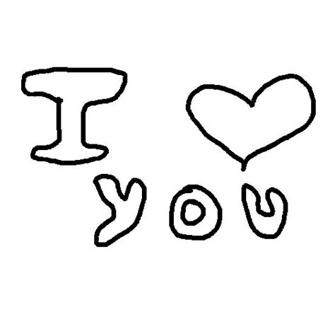 imágenes de i love you para dibujar i love you 6 coloring page coloringcrew com