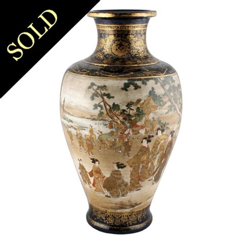 Satsuma Vase by Satsuma Pottery Vase Antique Japanese Vase Antique