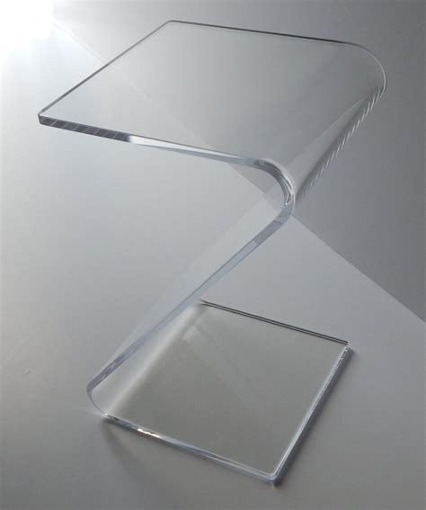 clear acrylic end table clear end quot z quot table lucite acrylic lucite plexiglass