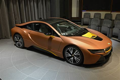 bmw i8 gold brown bmw i8 for sale in abu dhabi gtspirit