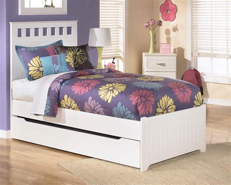 signature design  ashley furniture lulu twin bed  storagetrundle sams appliance