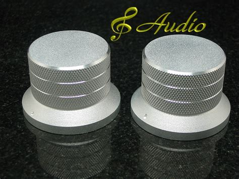 2 pc 48mmdx33mml silver color solid aluminum knobs 8audio
