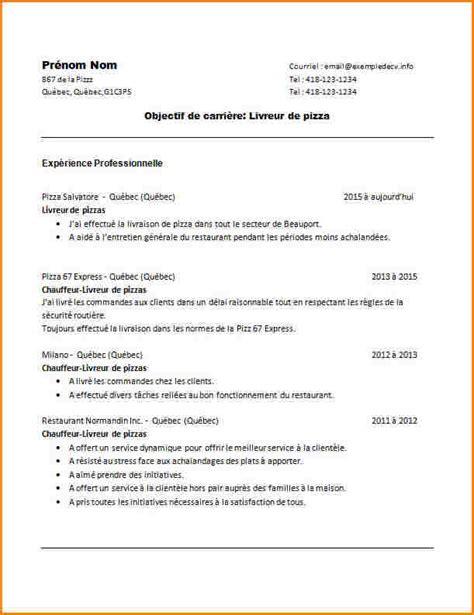 Exemple De Lettre De Motivation Chauffeur Livreur 10 Cv Chauffeur Livreur Curriculum Vitae Etudiant