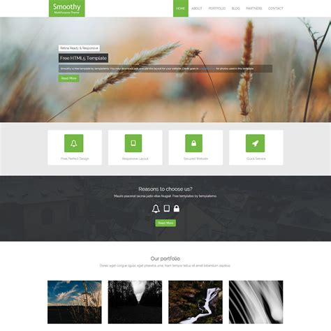 page layout design in html5 template 396 smoothy