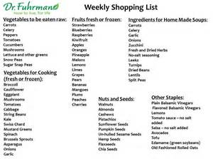 dr fuhrman s nutritarian shopping list health gifts shopping lists vegans and