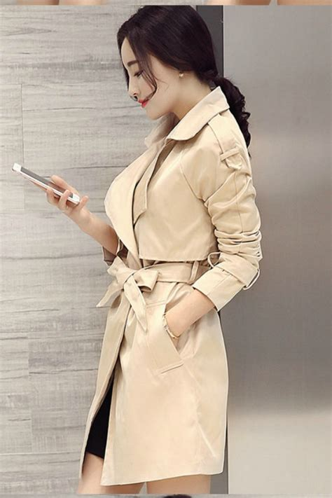 Tas Wanita Fashion Import Korea 5104 Apricot coat wanita apricot korean trench coat