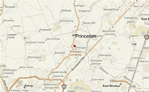 princeton map princeton location guide