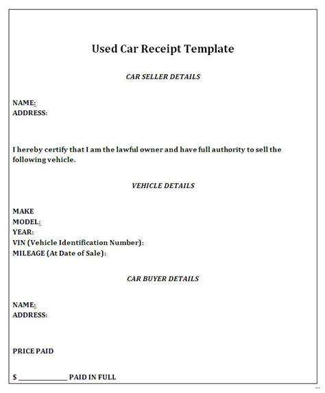 used car sales receipt template 36 vehicle sales receipt template marevinho