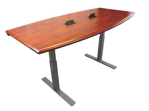 Adjustable Height Meeting Table Imovr Synapse Adjustable Height Conference Tables Review Workwhilewalking