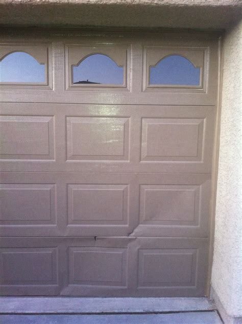 is there any way to seal a on garage door section