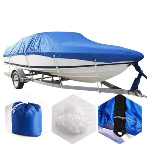 New 17 19ft Waterproof 210d Trailerable Heavy Duty Boat Cover V Hull 96 Quot Beam Ebay Boat Cover Templates