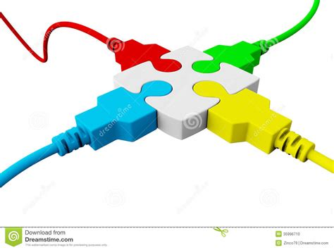 how to connect two electrical wires together a of the puzzle connected with four wires co stock