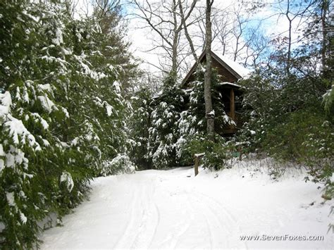 winter pictures cabins at seven foxes lake toxaway nc