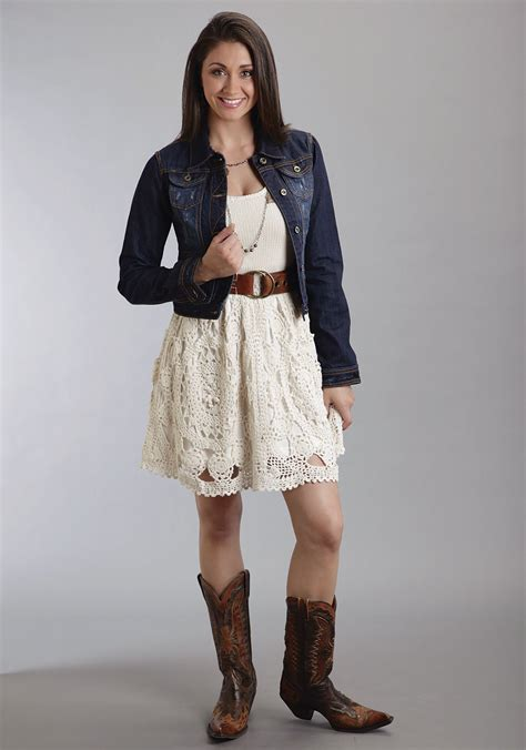 8 Western Inspired Looks by Stetson 174 Crochet Western Tank Dress