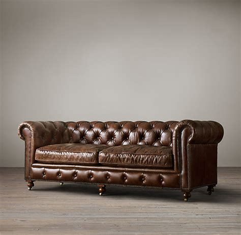 Restoration Hardware Leather Sofa The Kensington Leather Sofas Restoration Hardware Home Furniture Pinterest