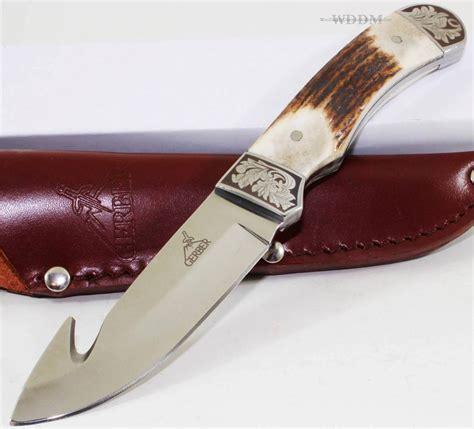 gerber skinning knife gerber wallowa stag bone tang guthook skinning