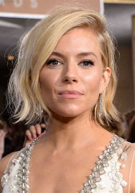 photos sienna miller haircut sienna miller bangs straight medium cut lenght hairstyles with a fringe 2016