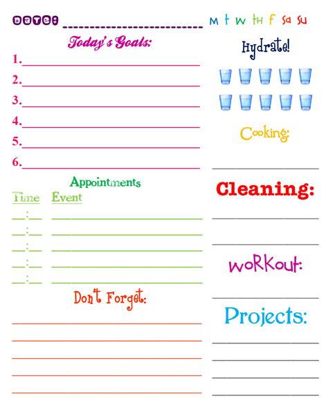 free printable weekly planner pages 2013 lizzy and jane s free printable 2013 daily planning page