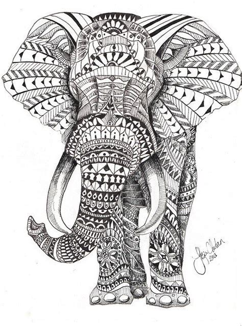 elephant coloring pages aztec designs 16 dessins de coloriage 233 l 233 phant mandala 224 imprimer