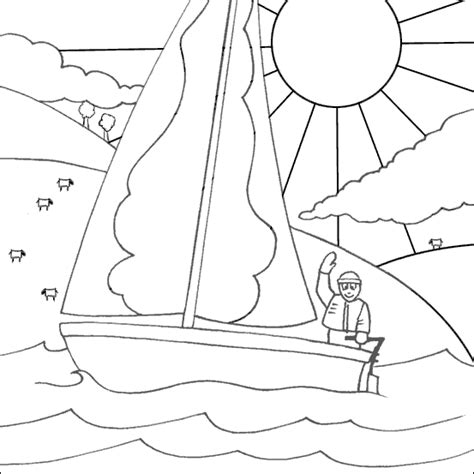 barbie boat pictures sailing boat coloring