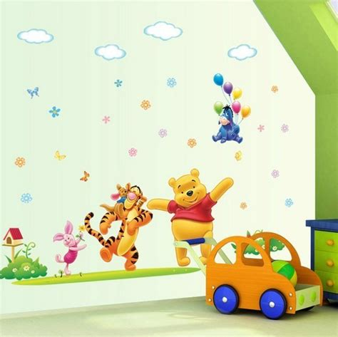 winnie the pooh bedroom wallpaper disney happy winnie the pooh nursery wall sticker
