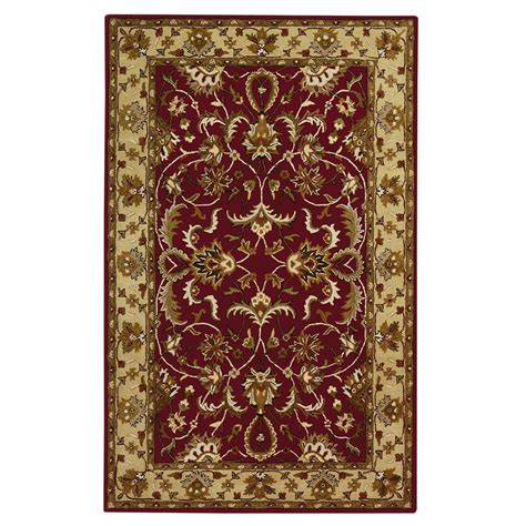 home decorators collection constantine burgundy 5 ft x 8