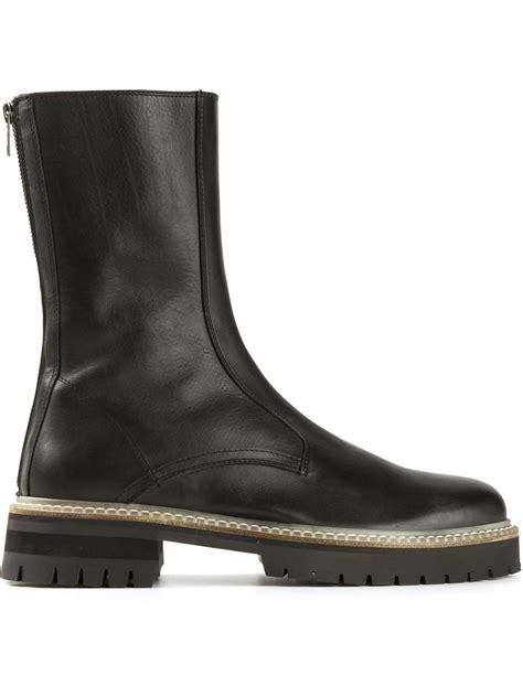classic biker boots ann demeulemeester classic biker boots in black for men lyst