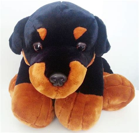 rottweiler plush soft rottweiler brand with your logo bespoke design