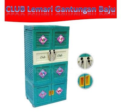 Lemari Plastik Airlux club lemari plastik model gantung warna biru new best