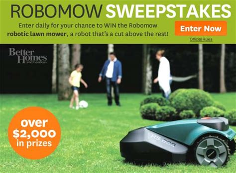 Better Home And Garden Sweepstakes - better homes and gardens robomow sweepstakes sweepstakes farm