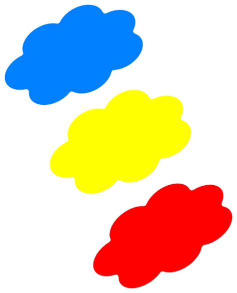 colored clouds colored clouds clip at clker vector clip