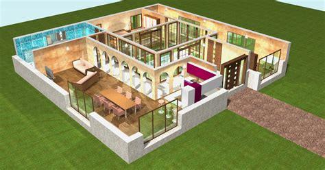 Plan De Maison Moderne 3d by Plan De Maison Plain Pied 3d