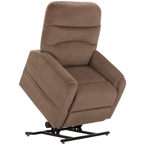 city furniture ruby lt brown fabric power lift recliner
