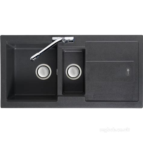 Graphite Kitchen Sinks Graphite Bali Reversible Kitchen Sink With Drainer And Large 1 5 Bowl Carron