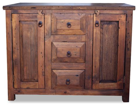 3 drawer reclaimed wood vanity 36 quot farmhouse bathroom