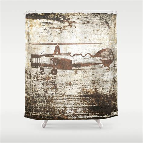 airplane shower curtain vintage airplane shower curtain by irena orlov society6