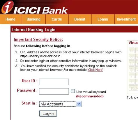 login to icici bank how to order cheque books in icici bank through