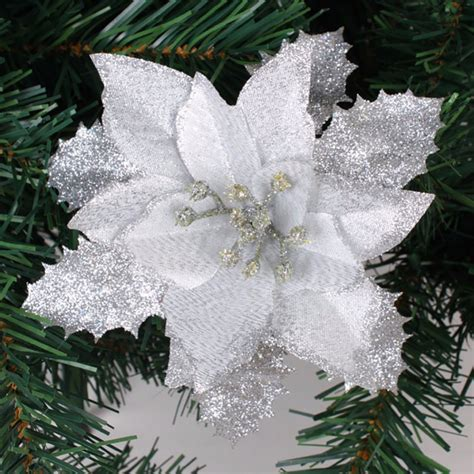 direct floral green glitter metal 3d christmas tree pick artificial poinsettia trees 100 images plastic