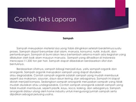 contoh laporan zoologi invertebrata teks laporan hasil observasi bahasa indonesia